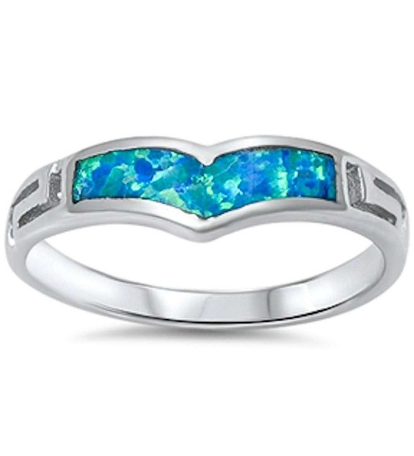 New Created Blue Opal Design .925 Sterling Silver Ring Sizes 5-9 - CL11OELJCCZ