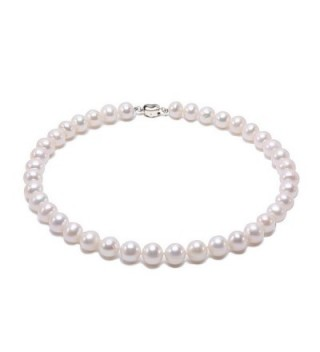 """JYX 8-9mm AAA Classic White Round Freshwater Pearl Necklace 16-64"""" - C1184X7TI8K"""