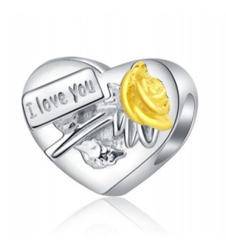 I Love You My Wife Idear Gifts from Husband 925 Sterling Silver Charms for Bracelets Anniversary Wedding Jewelry - C5188ZIOS62
