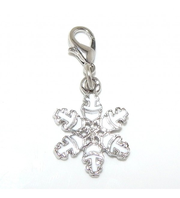 "Pro Jewelry Dangling ""Snowflake"" Clip-on Bead for Charm Bracelet 28919 - CL11OZ4X31H"