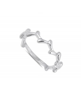 Thorn Stackable Curved Sterling Silver