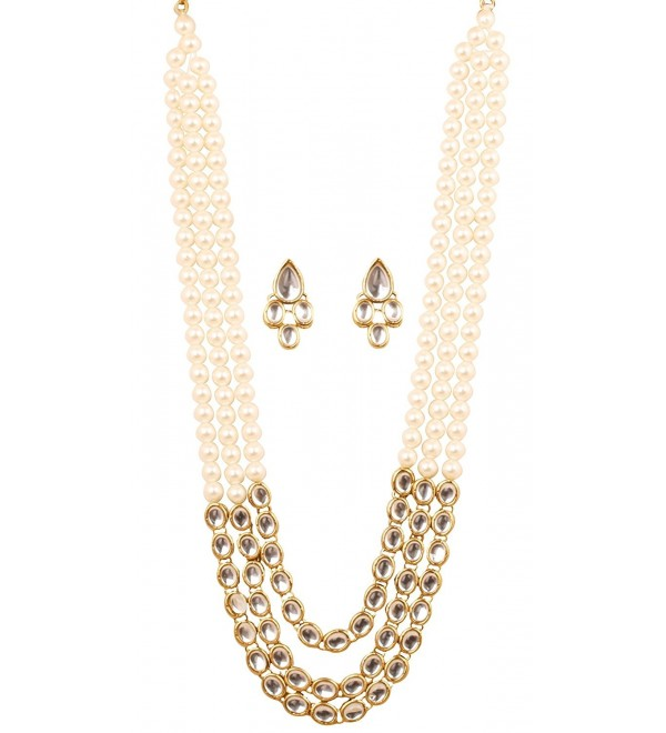 Touchstone Contemporary Collection bollywood necklace - Pearl - C317YZ3AKSS