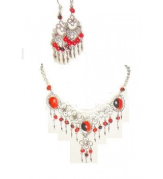 Beautiful Huayruro Seeds Necklace and Earrings Set - CT11GPIN0Y1