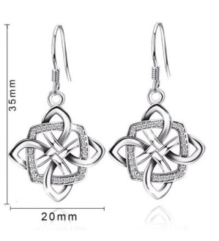 JUFU Womens Sterling Silver Earrings in Women's Drop & Dangle Earrings