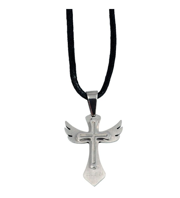 Wing Cross Necklace - CD110IBCYQV