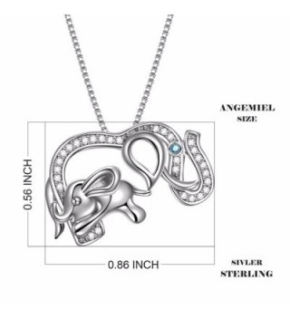 Sterling Elephant Crystal Pendant Necklace