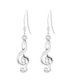 Silverly Women's .925 Sterling Silver Treble Clef Musical Note Dangle Earrings - C911OXL1EJF