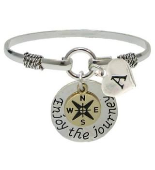 Custom Enjoy the Journey Silver ONLY Bracelet Jewelry Graduation Initial Family - CW182OMTZI4