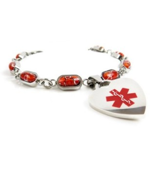 MyIDDr Pre Engraved Customized Pacemaker Millefiori in Women's ID Bracelets
