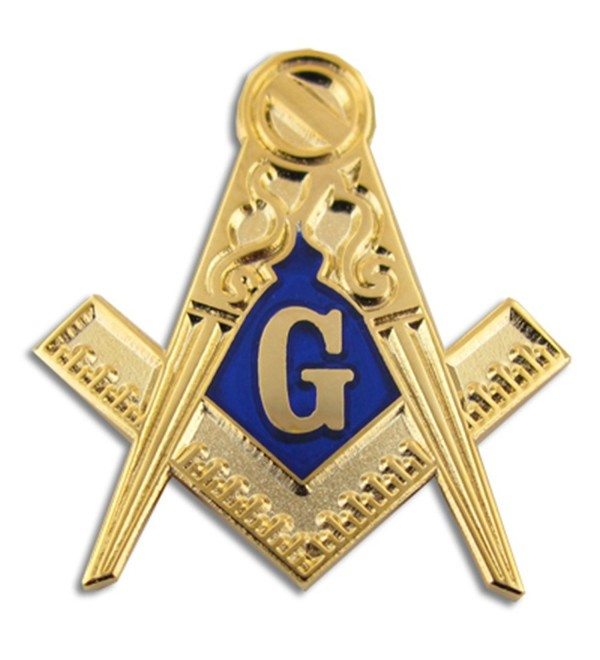 PinMart's Gold Masonic Symbol Compass Enamel Lapel Pin - C611MCFDYXD