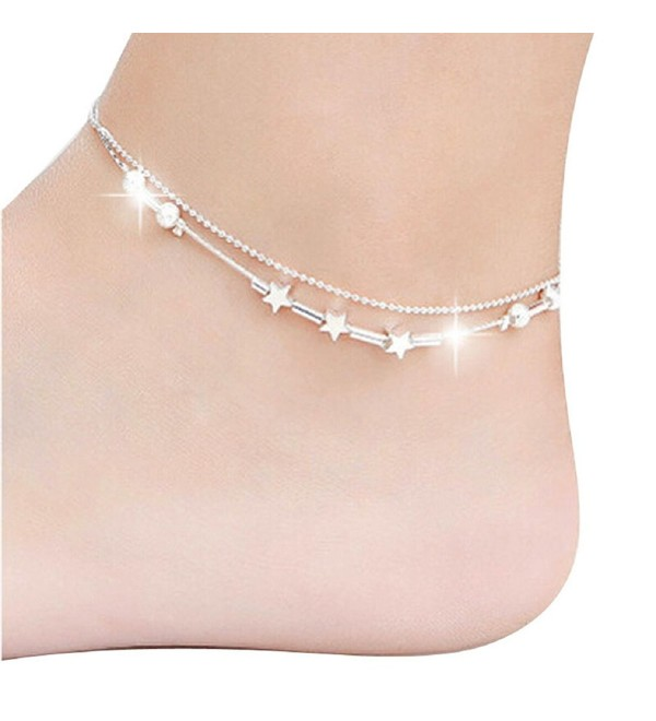 Sandistore 1PC Women Chain Ankle Bracelet Barefoot Sandal Beach Foot Jewelry - C3123WTIFXB