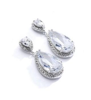 Mariell Zirconia Earrings Weddings Pear Shaped