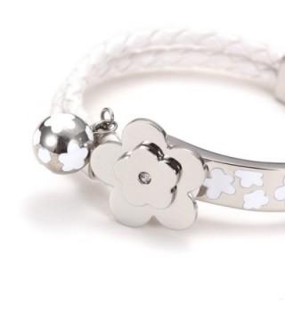 Wistic Stainless Leather Braided Bracelet in Women's Cuff Bracelets