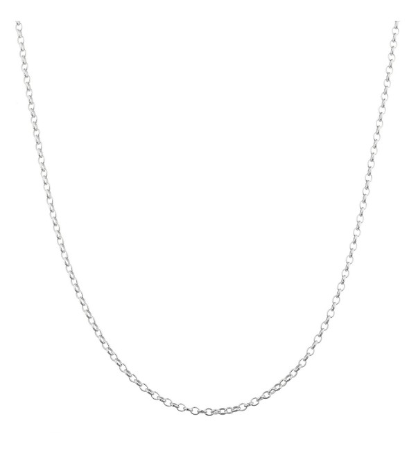 "Sterling Silver 2.1mm Belcher Bead Rolo Chain - 18"" to 24"" Available (6W-C9N7-NESE) - C812KC00QRB"