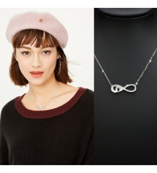 Infinity Necklace Mothers Sterling Footprints