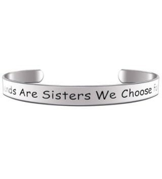 Paris Selection Girlfriends Are Sisters We Choose For Ourselves Best Friend Bracelet - CW12O86BALU