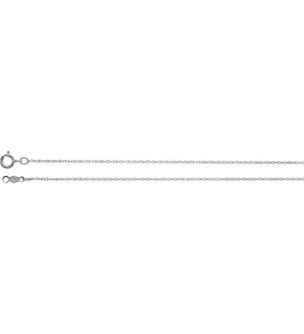 """10k White Gold .85mm Rope 18"""" Chain - CR11UVHUQ5D"""