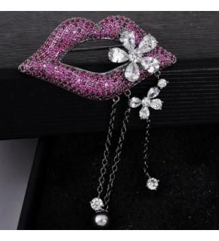 OBONNIE Violet Rhinestone Crystal Flower