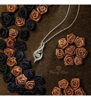 Lettering necklace Sterling Necklaces Swarovski in Women's Pendants