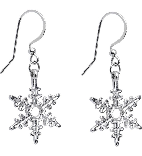 Body Candy Holiday Winter Snowflake Earrings - CX115GSG6SN
