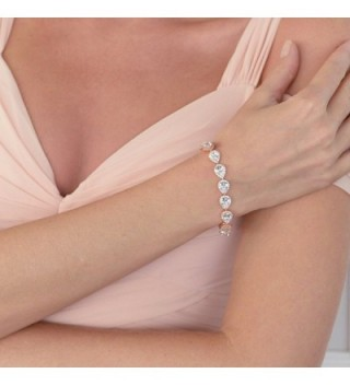 Mariell Pear Shaped Zirconia Bracelet Wedding in Women's Tennis Bracelets