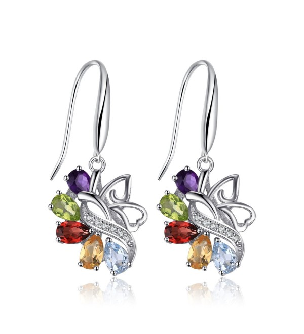 JewelryPalace Butterfly Amethyst Earrings Sterling - CJ12GTHNEM5