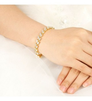 EVER FAITH Bridal Gold Tone Bracelet
