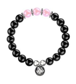 Feramox Simulated Birthstone Bracelet Semi Precious - October-Pink Quartz - CX17YC7RLCX