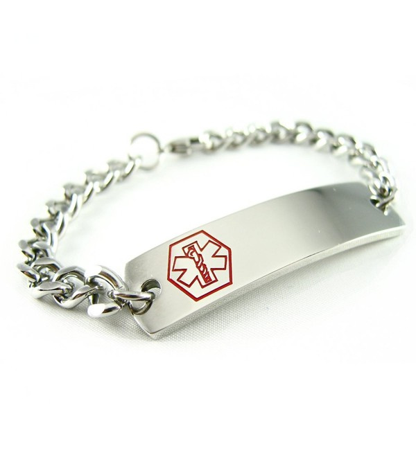 MyIDDr - Pre-Engraved & Customizable Hypoglycemia Medical Alert ID Bracelet- Curb Chain - C5114KV0WF5
