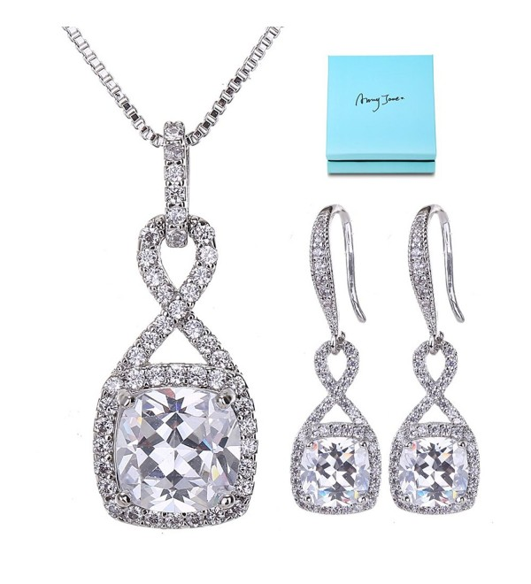 Crystal Jewelry Set Women Bridesmaids - Clear - CZ1897DEWW9