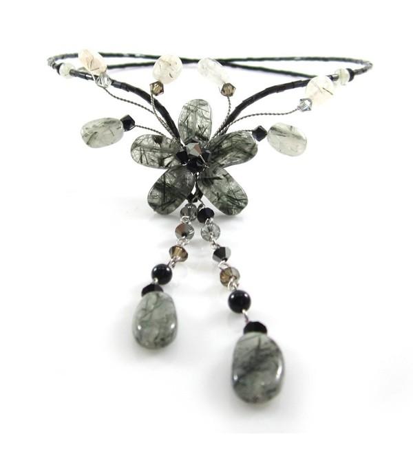 Tourmalinated Beautiful Handmade Necklace JA 0092N - C511DGWQ6AN