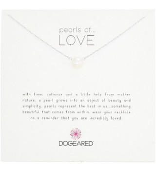 "Dogeared Pearls of Love 8mm Freshwater Pearl Necklace- 18"" - silver - CG118SWT6MR"
