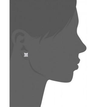 Stainless Princess Zirconia Regetta Jewelry in Women's Stud Earrings