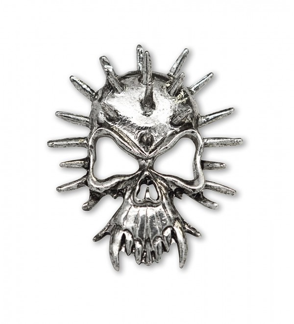 Gothic Spiked Skull with Fangs Large Jacket or Hat Pin - CN11FAU5SWB