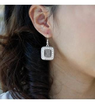 Inspired Silver Classic Earrings Rhinestones in Women's Drop & Dangle Earrings