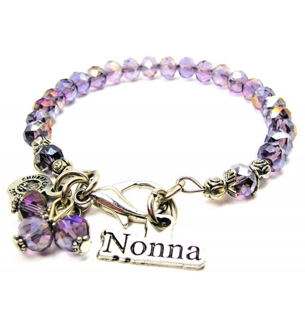 Nonna Italian Grandmother Splash of Color Bracelet in Lavender Purple - CC12J6CUW7Z