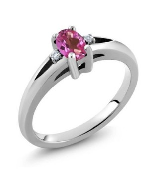 0.58 Ct Oval Pink Mystic Topaz 925 Sterling Silver Ring (Available in size 5-6-7-8-9) - CP11NY99ZJD