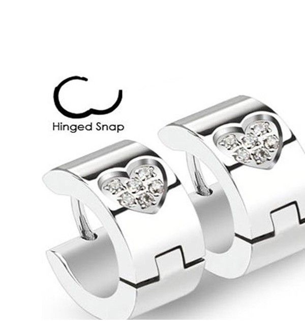 Surgical Stainless Centered Simulated Diamonds - C911K8TVUMH