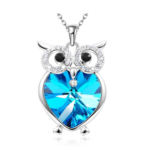 Necklace Swarovski Crystals Birthday Anniversary - blue - C41843W8UR0
