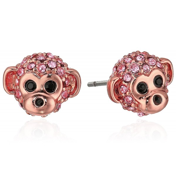 Kate Spade New York Womens Rambling Roses Monkey Studs Earrings - Pink Multi - CY12MHNBN3R