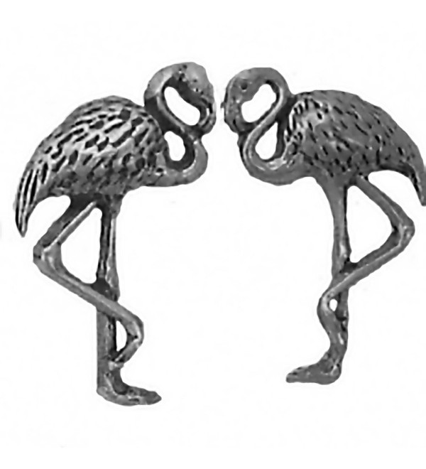 Corinna-Maria 925 Sterling Silver Flamingo Earrings Studs Tiny Mini Stainless Steel Posts and Backs - CQ115VJSN4H