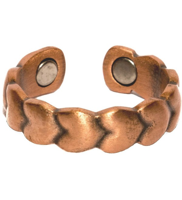 Copper Love - Magnetic Therapy Ring - C41194X9SZJ