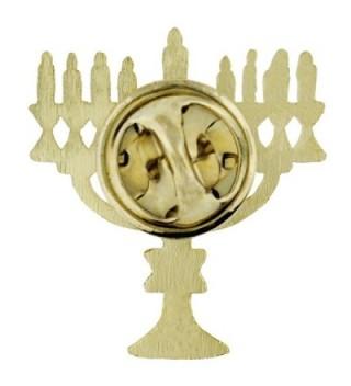 PinMarts Hanukkah Menorah Lampstand Holiday in Women's Brooches & Pins