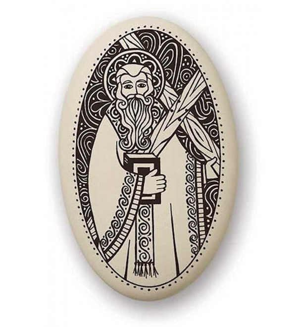 St Andrew Porcelain Oval Medal on Braided Cord | Patron Saint of Scotland- Russia and Fishermen - C7183NH9YTT
