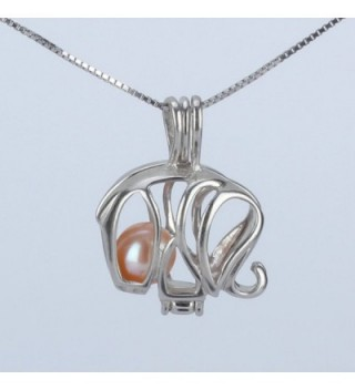 Sterling Elephant Pendant Necklace Cultured in Women's Chain Necklaces