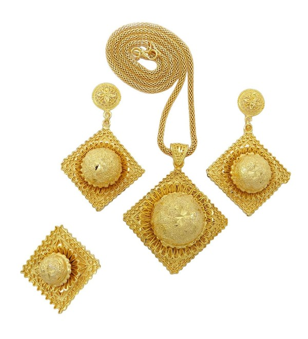 Banithani Gold Plated Necklace Earring Set Ethnic Traditional Jewelry Gift For Women - Gold-8 - CE120LB1BDJ