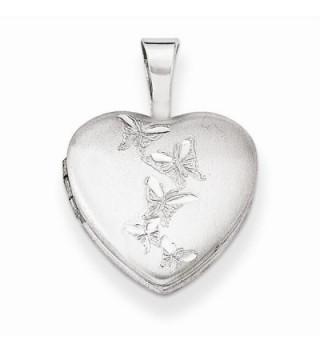 Sterling Silver Butterflies 12mm Heart Locket - CL11R2E05BN