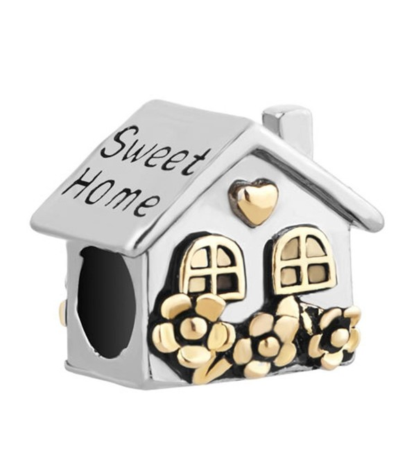 Mel Crouch Heart Sweet Home Charms Love Family house Charm Beads For Bracelets - CP183GX732D