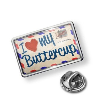 Pin I Love my Buttercup- Vintage Letter - Lapel Badge - NEONBLOND - CK11I1MZQ4L