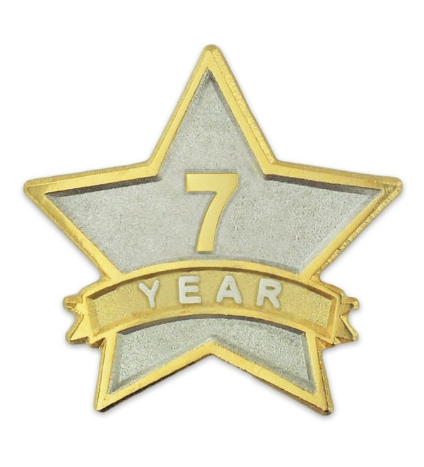PinMart's 7 Year Service Award Star Corporate Recognition Dual Plated Lapel Pin - CA11NKC286L